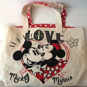 Mickey and Minnie Disney tote bag